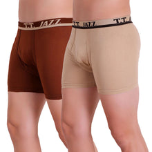 T.T. Men Jazz TE Trunk Pack of 2 (Rust - Beige)