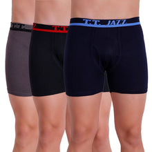 T.T. Men Jazz TE Trunk Pack of 3 (Grey - Navy - Black)