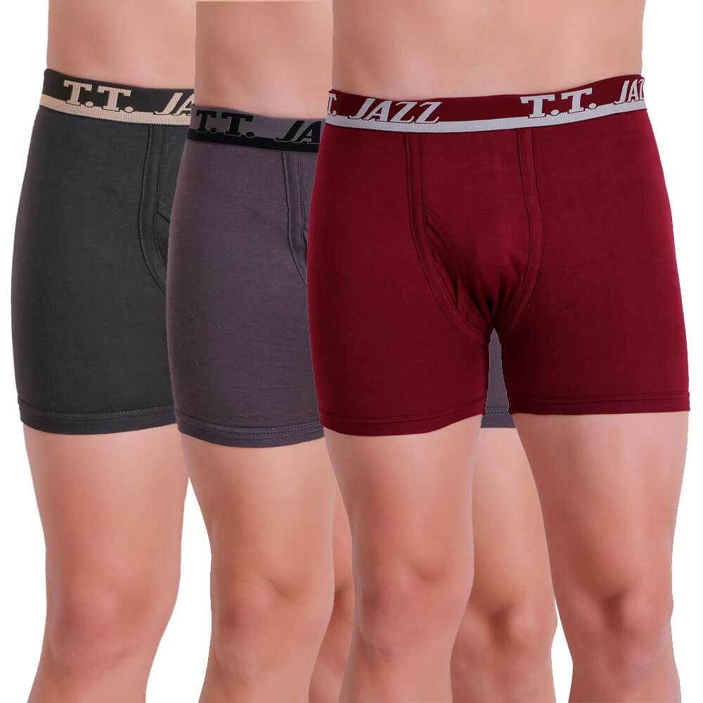 T.T. Men Jazz TE Trunk Pack of 3 (Anthra - Grey - Red)