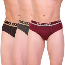 T.T. Men Jazz Brief Solid Pack Of 3 Assorted Colors