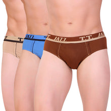 TT Men Jazz BRIEF Solid Pack of 3  assorted Colors