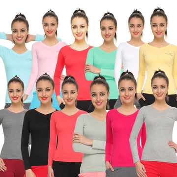 HiFlyers Womens Full Sleevest-Shirt Pack Of 12 Assorted
