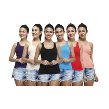 T.T.Womens Desire Racer Vest Pack of 6 Assorted