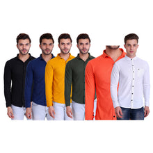 HiFlyers Mens Full Sleeves Shirt Pack Of 6 Assorted
