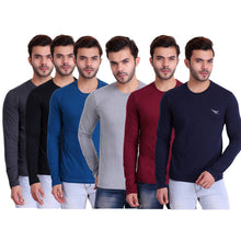 HiFlyers Mens Full Sleeves T-Shirt Pack of 6 Assorted