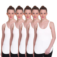 T.T. Women Long Slips Pack of 5 (White)
