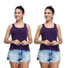 T.T. Women Purple Racerback Vest