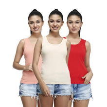 T.T. Womens Desire Cotton Spandex Tanktop Pack of 3