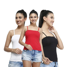 T.T. Womens Desire Cotton Spandex Speghatti pack of 3