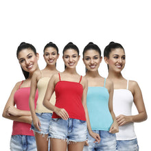 T.T. Womens Desire Cotton Spandex Speghatti pack of 5