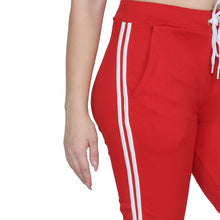 T.T. Women Solid Cotton Capri Red