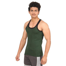 T.T. Men Solid Pack Of 3 Gym Vest  Grey::Red::Olive
