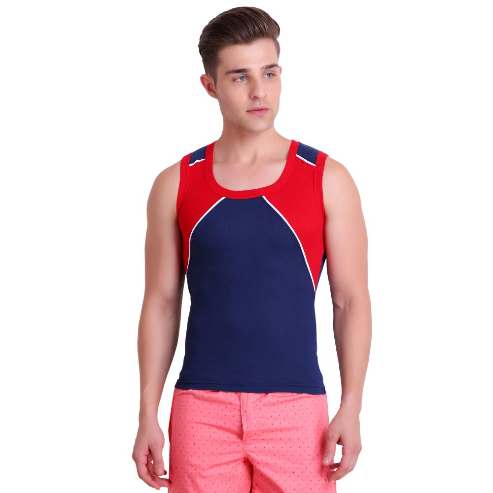T.T. Men Titanic Designer Gym Vest Pack of 2 (Royal Blue - Blue)