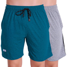 T.T. Men Solid Cotton Shorts Pack Of 2 Grey::Air