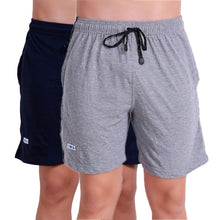 T.T. Mens Bermuda Pack Of 2 Grey-Navy