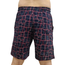 T.T. Men Printed Bermuda Shorts Maroon Blue