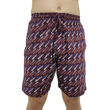 T.T. Men Printed Bermuda Shorts Maroon