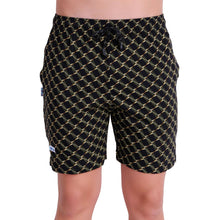 T.T. Mens Printed Bermuda Shorts Black