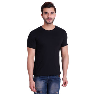 T.T. Men T-Shirts Round Neck Black