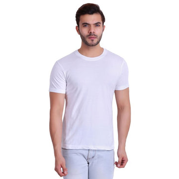 T.T. Men T-Shirts Round Neck White