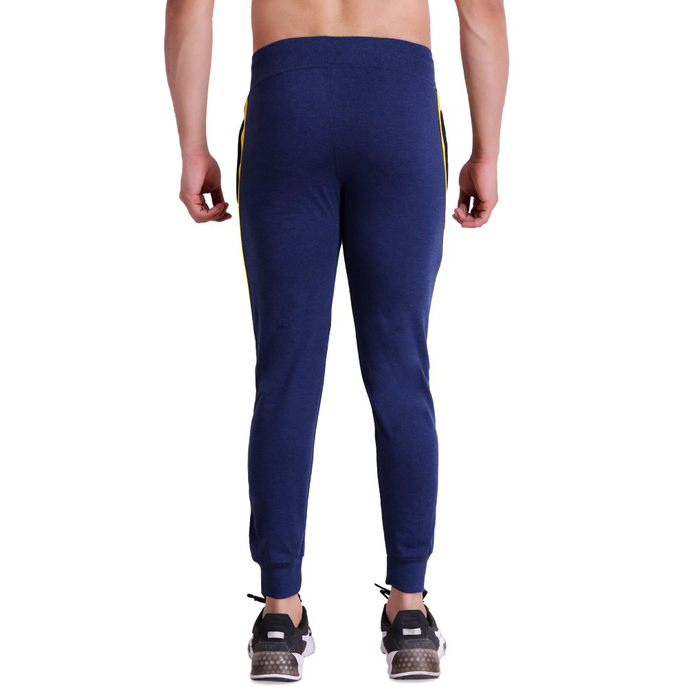 Hiflyers Mens Slimfit Track Pants (Denim Blue)
