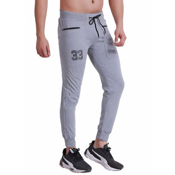 HiFlyers Mens Slimfit Track Pants (Grey)