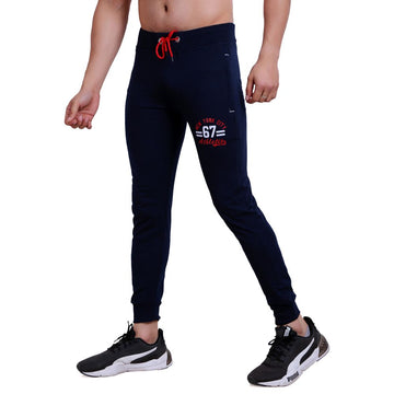 Hiflyers Mens Slimfit Track Pants (Navy)