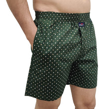 Hiflyers Men Printed Cotton Boxer Short Olive Green