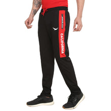 HiFlyers Mens Black-Red Trackpants