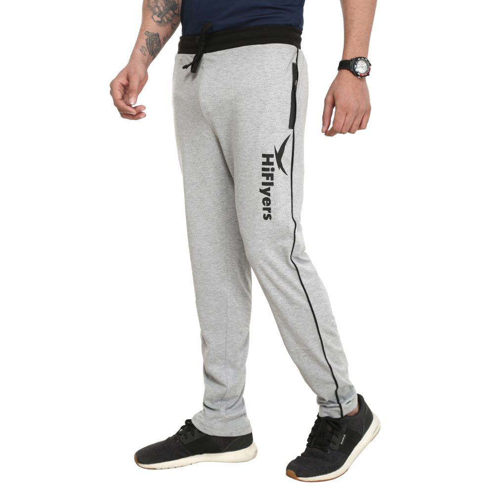 Hiflyers Mens Grey Melange Trackpants