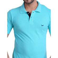HiFlyers Men T-Shirts Polo Turquoise Pack Of 3