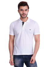 HiFlyers Men White Polo T-Shirt