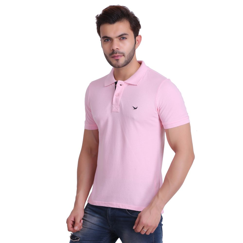 Hiflyers Men Pink Polo T-Shirt