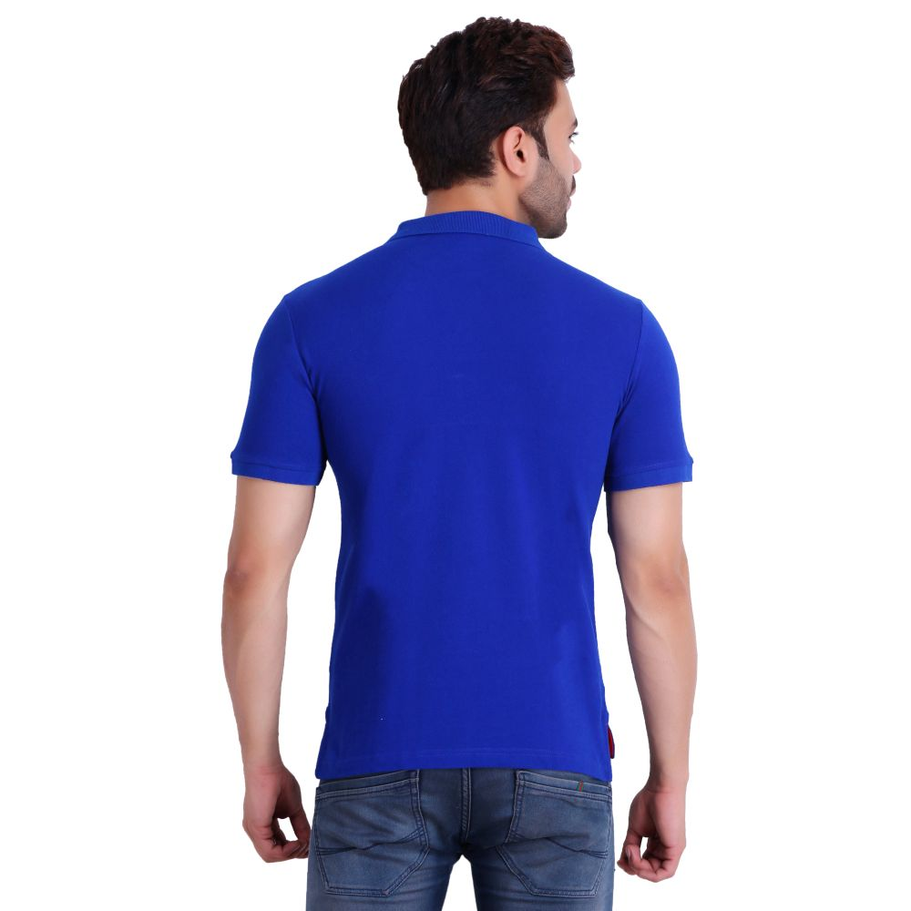 Hiflyers Men Royal Blue Polo T-Shirt