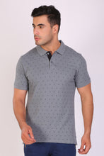 HiFlyers men Slim fit PRINTED collar tshirts GREY