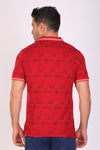 HiFlyers men Slim fit PRINTED collar tshirts RED