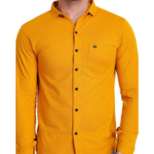 HiFlyers Men Polo Neck Solid ShirtYellow