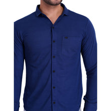 HiFlyers Men Polo Neck Solid ShirtDark Blue