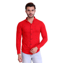HiFlyers Men Polo Neck Printed Shirt Red