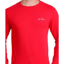 HiFlyers Men Round Neck Solid T-ShirtRed