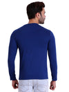 HIFLYERS MEN ROUND NECK FULL SLEEVE SOLID Blue TSHIRTS