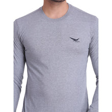HIFLYERS MEN ROUND NECK FULL SLEEVE SOLID GREY T-SHIRT
