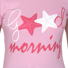 T.T. Women Slim Fit Printed Round Neck Printed T-Shirt Pink