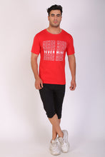 TT Men Regular fit Printed RN Tshirt RED
