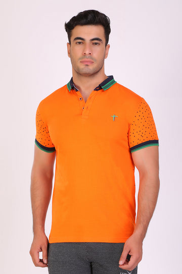 TT men Slim fit PRINTED tshirts Orange