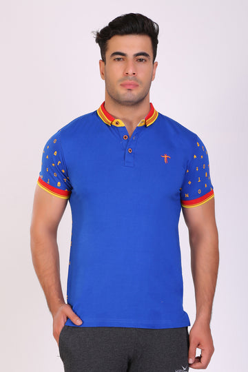 TT men Slim fit PRINTED tshirts ROYAL