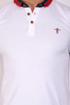 T.T. Men Slim Fit Printed Tshirts White