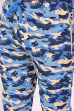 TT Men Comfort Fit  Printed Trackpant BLUE