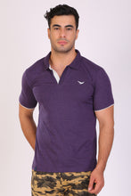 HiFlyers Men Slim Fit Collar Tshirts Purple
