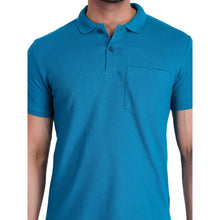 HiFlyers Polo Neck Mens Tshirt Light Blue With Pocket